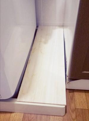 洗濯機と洗面台の間