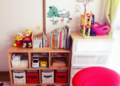 子供のおもちゃ収納