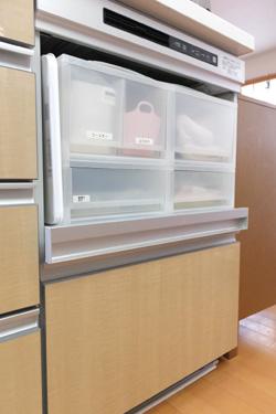 キッチンの収納ケース