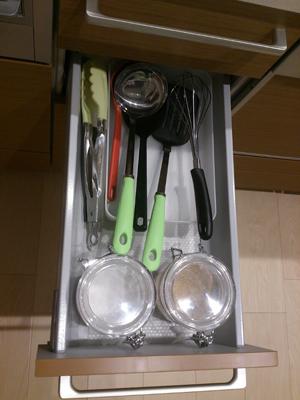 キッチンの引き出し