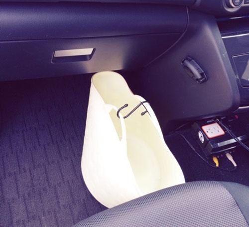 車内にバッグの指定席をつくる