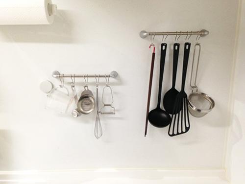 キッチン道具を吊るす