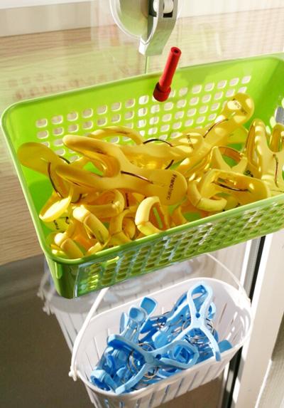 洗濯バサミの収納