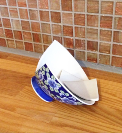 割れたお茶碗の処分