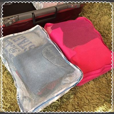 旅行バッグの整理